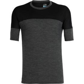 Icebreaker Kinetica SS Crewe Shirt Men black heather/black